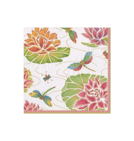 Jeweled Pond Paper Cocktail Napkins in Ivory - 20 Per Package