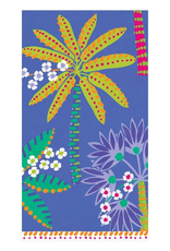 Paradise Palms Paper Guest Towel Napkins in Blue - 15 Per Package
