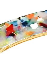 French Hair Clip - Rainbow Tortoise