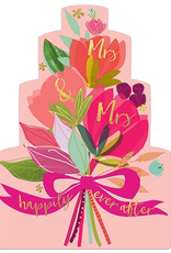 Mrs and Mrs Bouquet Wedding Card