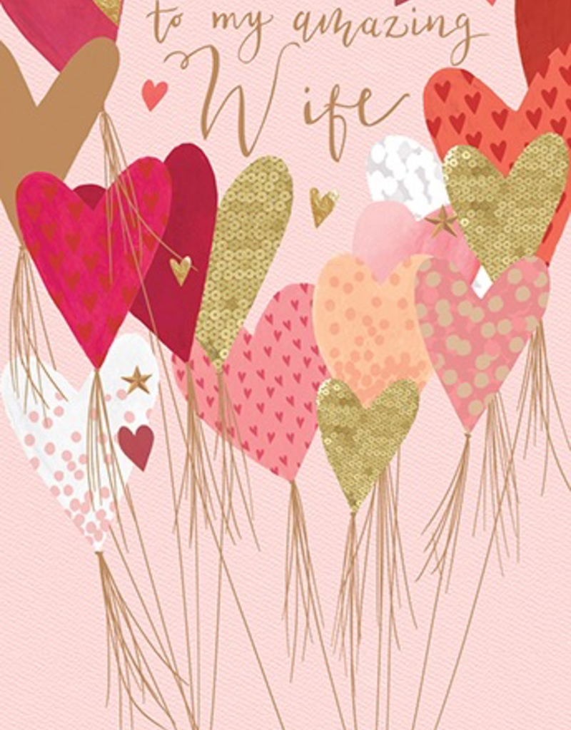 Wife Heart Valentine's Day Card