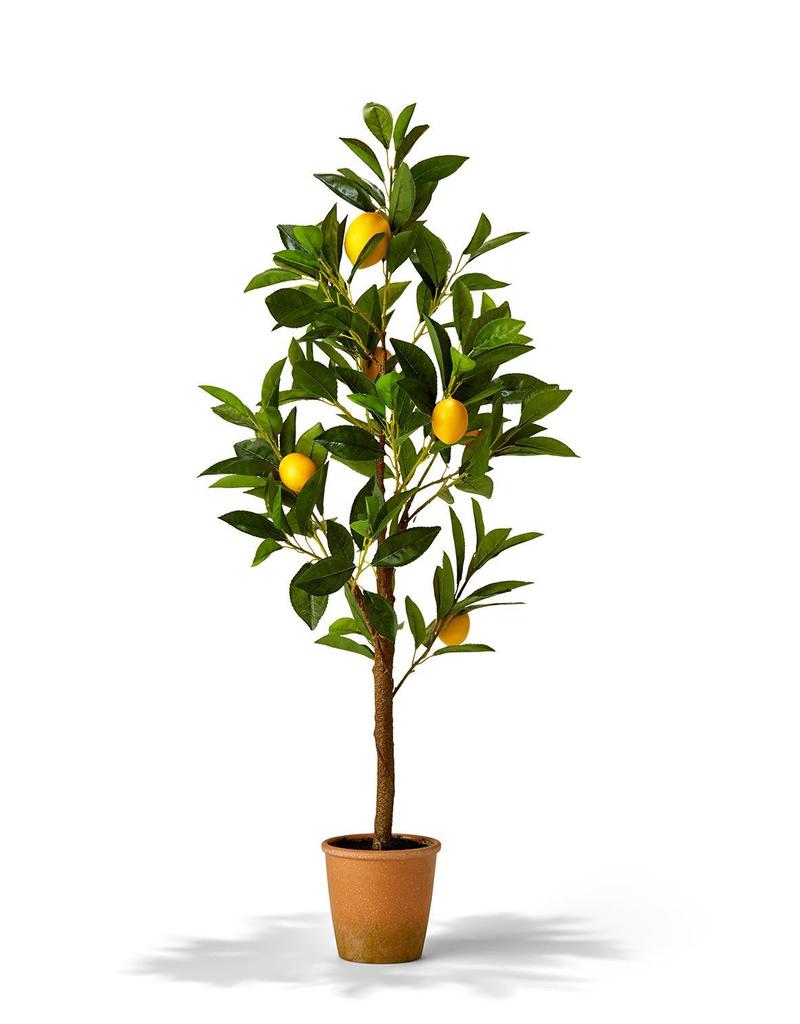 """Faux Lemon Tree in Pot - 35"""""""