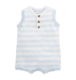 Blue Stripe Romper -  3-6 Months