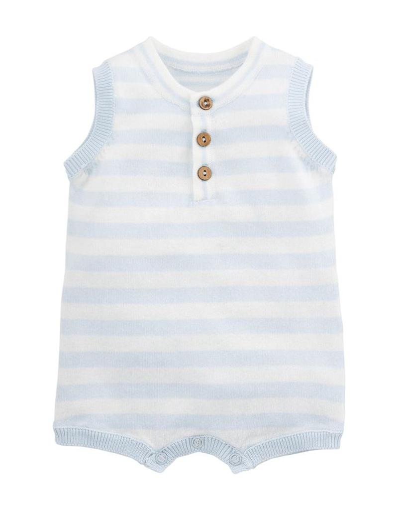 Blue Stripe Romper - 0-3 Months