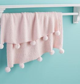 "Pink Chenille Blanket 28"" x 34"""