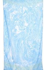 Suminagashi Scarf/Sarong - Aqua