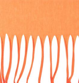 Fringe Infinity Scarf - Orange