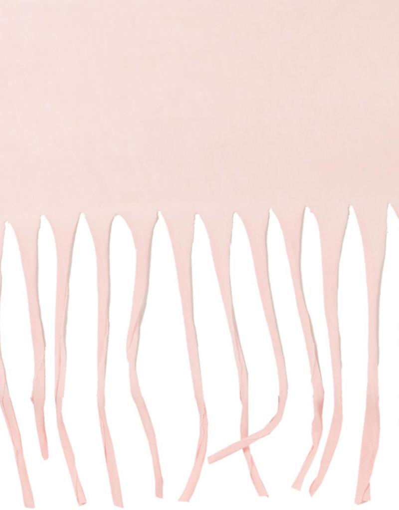 Fringe Infinity Scarf - Pink