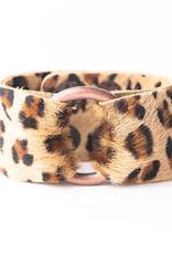 Leopard Leather Cuff