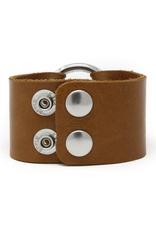 Classic Brown Leather Cuff