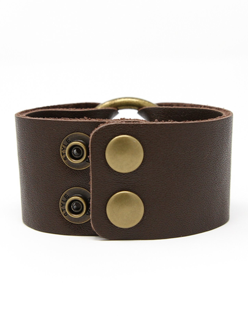 Classic Dark Brown Leather Cuff