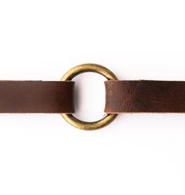 Classic Dark Brown Leather Bracelet