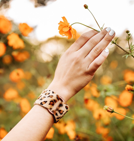 Leopard Leather Cuff - Extended