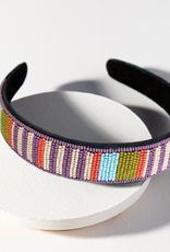 Lilac And Coral Stripe Headband