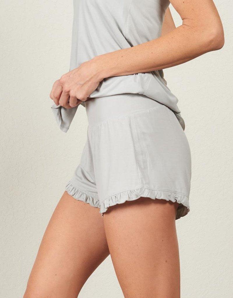 Bamboo Ruffle Shorts -  Fog -  Medium