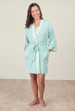 Bamboo Kimono Robe - Aqua Small/Medium