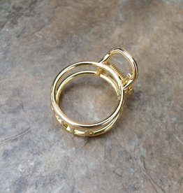 Gold Metal Round Hair Clip - Small