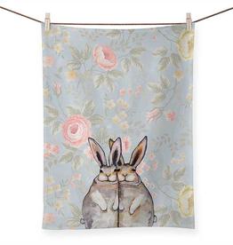 Bunny Friends - Floral Tea Towel