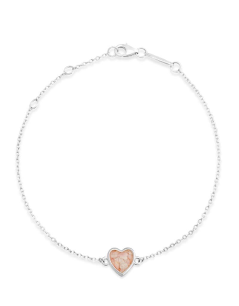Dune Jewelry Delicate Dune Heart Bracelet - Crescent Beach