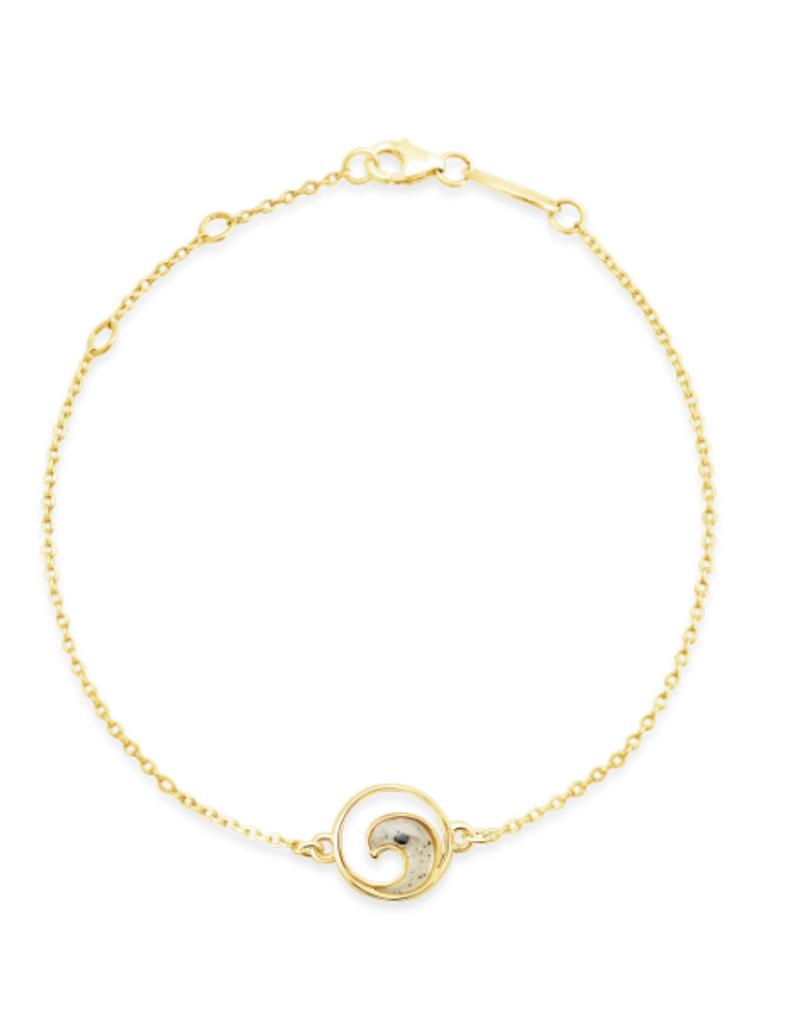 Dune Jewelry Delicate Dune Wave Bracelet - 14k Gold Vermeil - Amelia Island