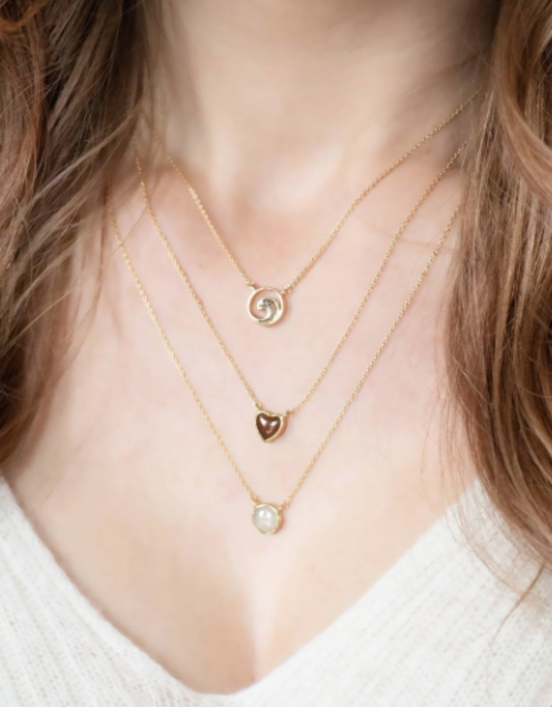 Dune Jewelry Delicate Dune Wave Necklace - 14k Gold Vermeil  - Clearwater Beach