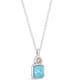 Dune Jewelry Serenity Necklace - Larimar and Shells from Florida (Pink)
