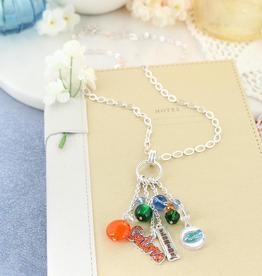 Florida Gator Cluster Necklace