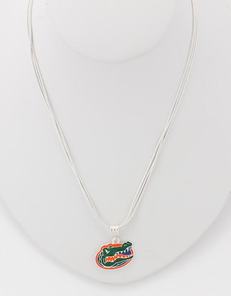 Florida Gator Enamel Logo Necklace