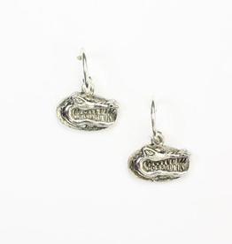 Florida Logo Hoop Earrings - Silver Plate
