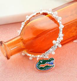 Florida Gator Enamel Logo & Pearl Bracelet