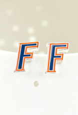 Florida Enamel F Logo Stud Earrings