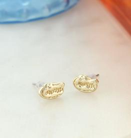 Florida Matte Gold Logo Stud Earrings