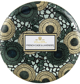 Voluspa French Cade & Lavender 3 Wick Tin Candle