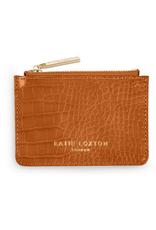 Katie Loxton Celine Faux Croc Card Holder - Cognac