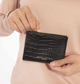 Katie Loxton Celine Croc Coin Purse - Black