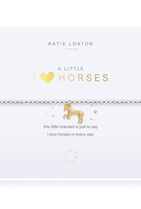 Katie Loxton a little I love horses silver with gold horse