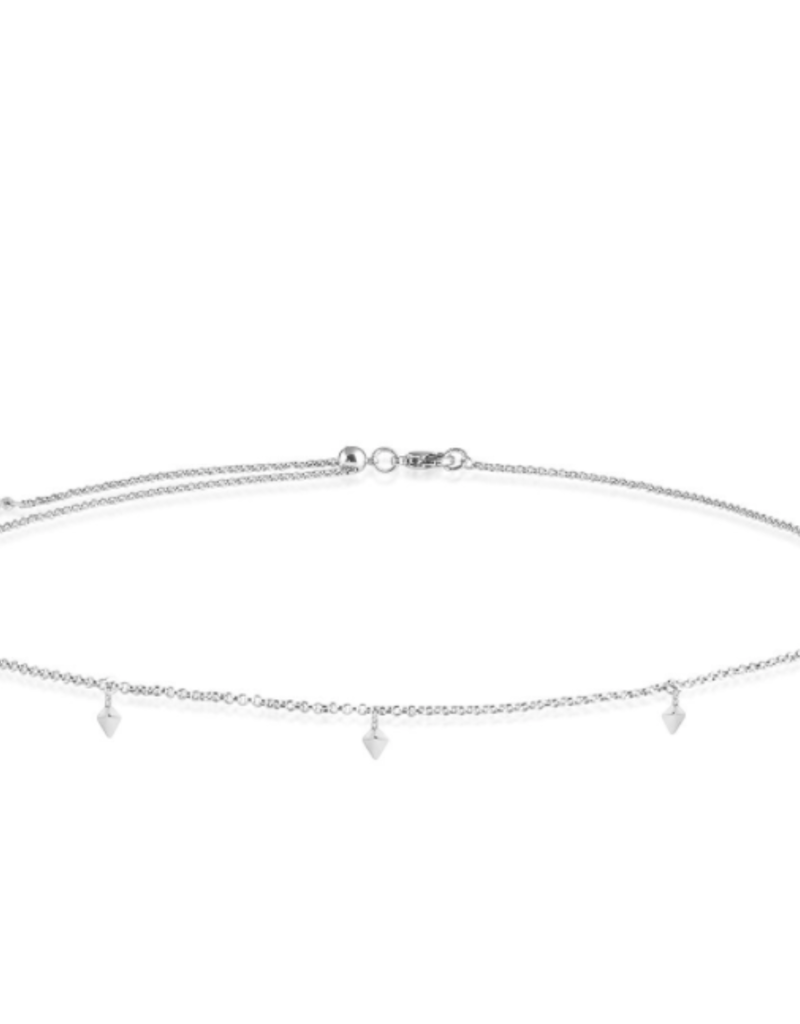 Katie Loxton Celine Choker - Silver Charm