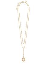 Katie Loxton Laila Lariats - Gold Sun Lariat Necklace