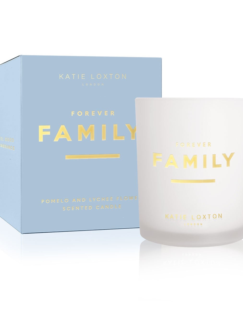 Katie Loxton Sentiment Candle - Forever Family - Pomelo and Lychee Flower