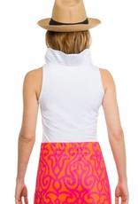 Gretchen Scott Designs Jersey Sleeveless Ruffneck Top - White -Medium