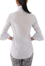 Gretchen Scott Designs Priss Blouse - White - Large