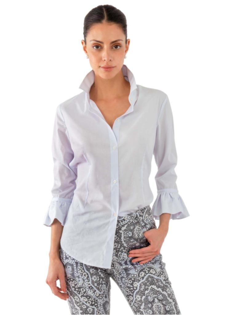 Gretchen Scott Designs Priss Blouse - White - Small