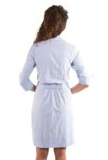 Gretchen Scott Designs Breezy Blouson Dress - Blues - Medium