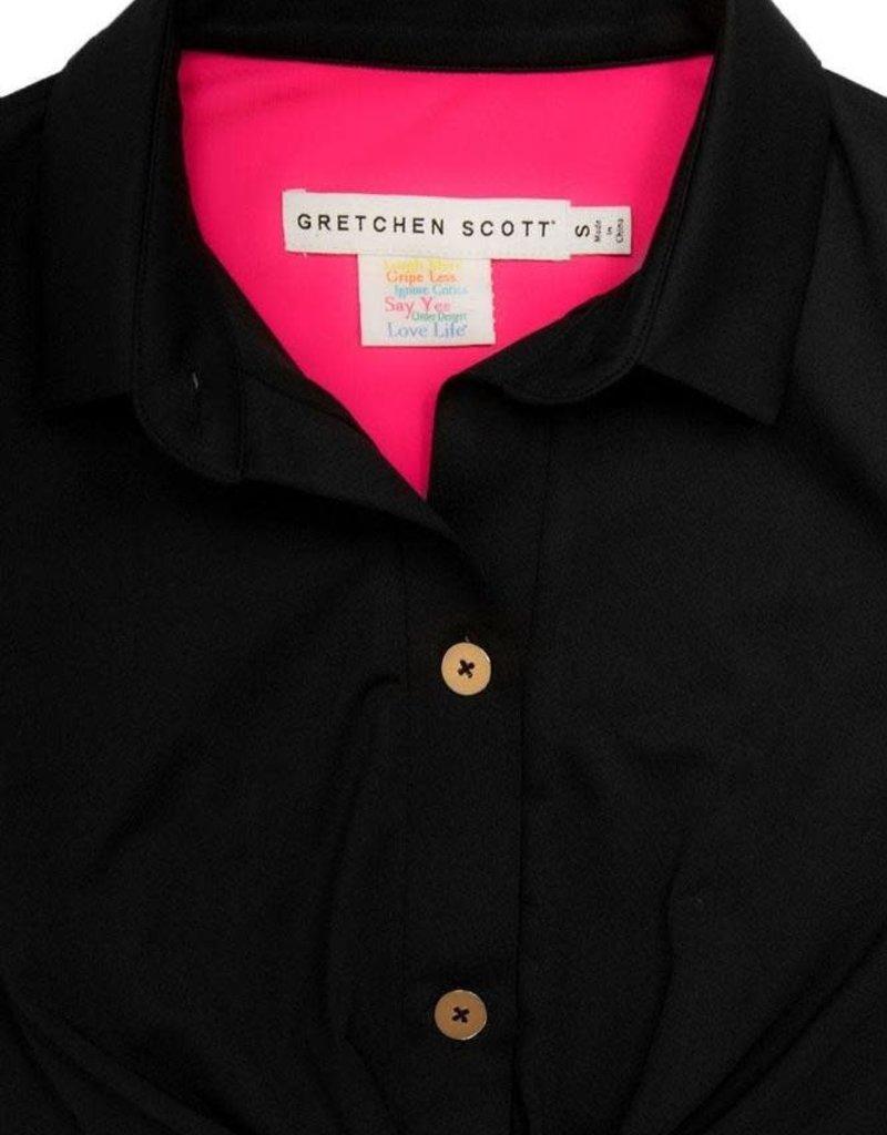 Gretchen Scott Designs Twist & Shout Dress - Solid - Black - X-Large