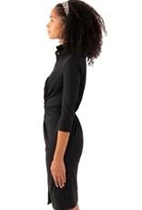 Gretchen Scott Designs Twist & Shout Dress - Solid - Black - Goddess