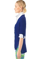 Gretchen Scott Designs Grosgrain Heaven Cardigan - Royal Blue - Medium