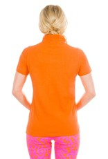 Gretchen Scott Designs GripeLess - Cotton Piqué Polo Shirt - Orange - Small