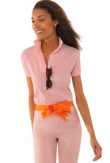 Gretchen Scott Designs GripeLess - Cotton Piqué Polo Shirt - Whisper Pink - Medium