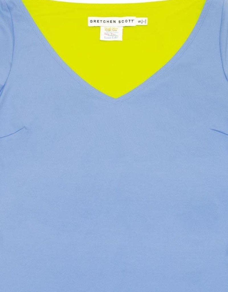 Gretchen Scott Designs Second Skin Tee - Periwinkle - Large
