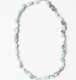 "Leslie Curtis Abigail Larimar Beaded Necklace - 16"""
